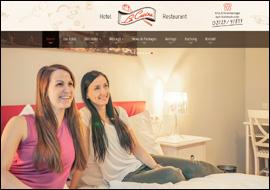 responsive Website und Werbefotografie La Cucina Hotel